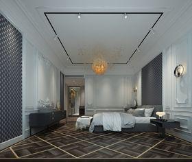 140平米四室三厅法式风格卧室图