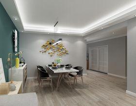 100平米三室两厅北欧风格餐厅效果图