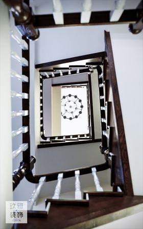 20万以上140平米三室一厅美式风格楼梯装修效果图