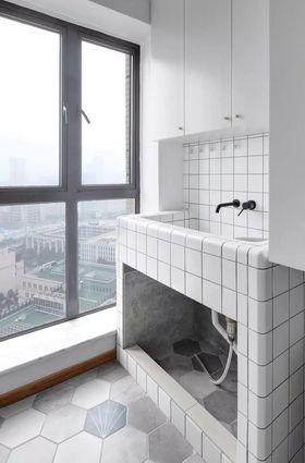 140平米三室三厅北欧风格阳台图片
