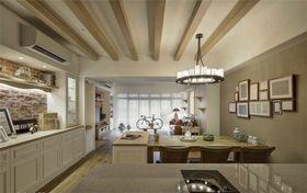 120平米三室两厅英伦风格餐厅装修案例