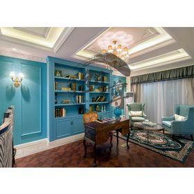 140平米别墅法式风格书房图