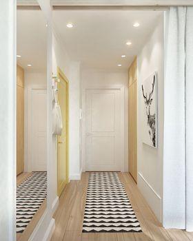 100平米三室两厅北欧风格玄关图片大全