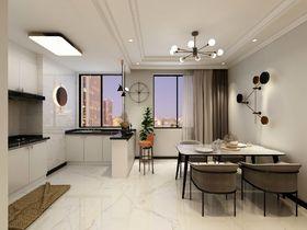 90平米三室两厅混搭风格餐厅图