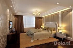 140平米三室兩廳現代簡約風格臥室圖片