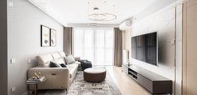 90平米现代简约风格客厅图