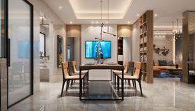 140平米三室两厅现代简约风格餐厅图片大全