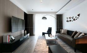120平米三室一廳現代簡約風格客廳裝修效果圖