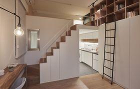 富裕型40平米小户型日式风格楼梯间装修案例