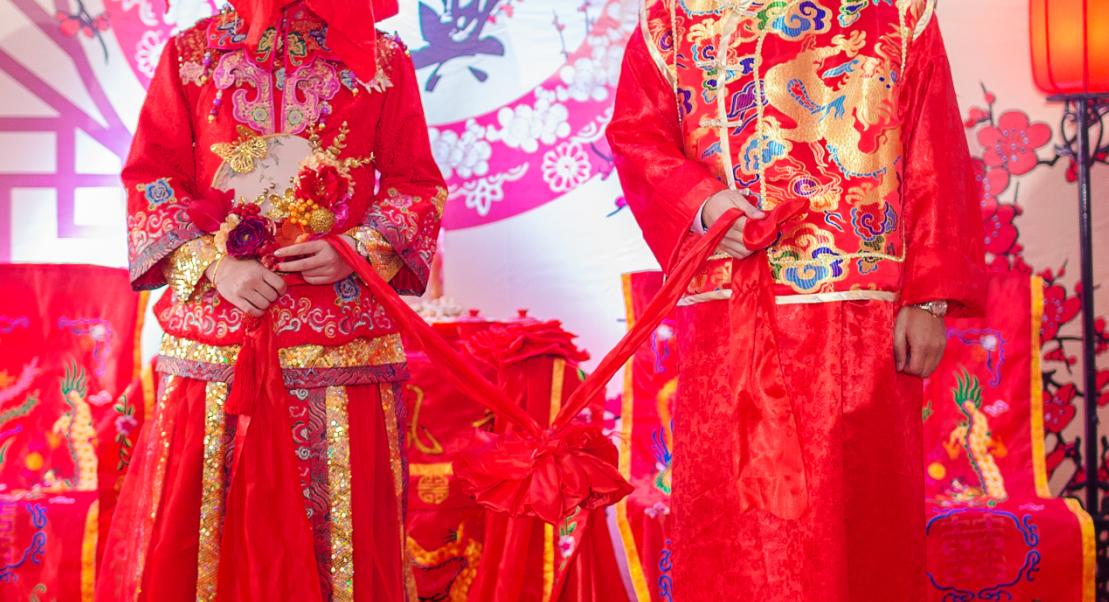 传统的中式婚礼成了现代人的新时尚