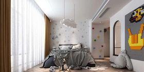 140平米复式现代简约风格儿童房欣赏图