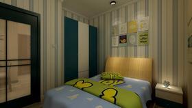 80平米中式风格儿童房装修效果图