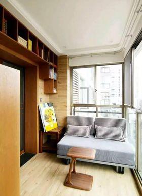10-15万80平米三室两厅北欧风格阳台图