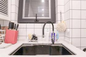 50平米公寓现代简约风格厨房设计图