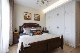 70平米三室两厅美式风格卧室装修效果图