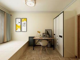 80平米三室一厅混搭风格书房欣赏图