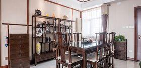 140平米三室一厅中式风格餐厅装修案例