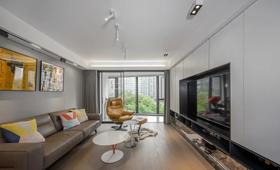 110平米三室兩廳現代簡約風格客廳效果圖
