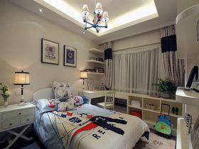 120平米三室一厅地中海风格卧室图片大全