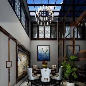 20万以上140平米复式中式风格餐厅图片