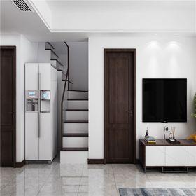 90平米现代简约风格楼梯间图