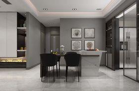 130平米三室兩廳現代簡約風格餐廳效果圖