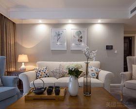 100平米三室两厅美式风格客厅图