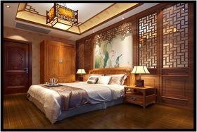 富裕型110平米复式中式风格卧室装修图片大全