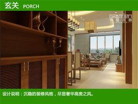 5-10万90平米三室两厅中式风格走廊图