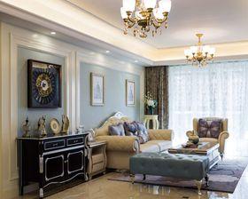 120平米三室两厅欧式风格客厅图片大全