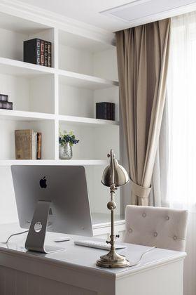 120平米三室两厅法式风格书房装修案例