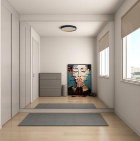 60平米一室一厅现代简约风格健身室设计图