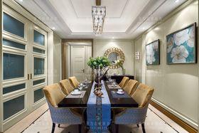 140平米三室兩廳混搭風格餐廳裝修圖片大全