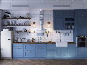 70平米公寓混搭风格厨房欣赏图