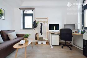 120平米三室兩廳北歐風格書房設計圖