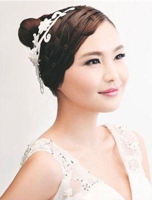 唯美新娘编发 婚礼浪漫如夏花-大众点评结婚频道