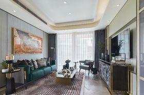120平米现代简约风格客厅效果图