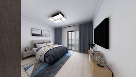 140平米現代簡約風格臥室圖片