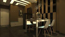 富裕型90平米三室两厅现代简约风格餐厅图片