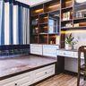 130平米三室两厅中式风格书房装修案例