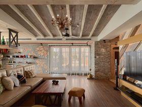 15-20万140平米三室两厅美式风格客厅图