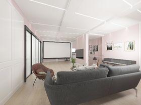 140平米复式北欧风格影音室图片大全