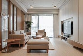 130平米三室一厅日式风格客厅装修效果图