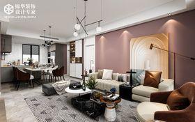 110平米三室兩廳現代簡約風格客廳欣賞圖