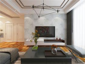70平米三室一厅现代简约风格客厅装修案例