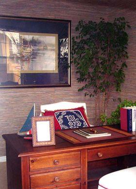 富裕型140平米四室四厅混搭风格书房欣赏图
