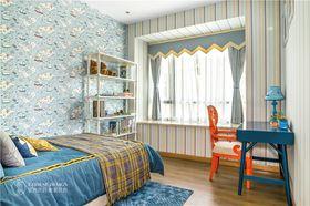 富裕型120平米三室两厅现代简约风格儿童房设计图