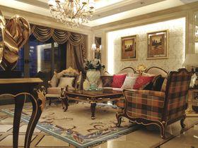 20万以上120平米三室一厅美式风格客厅图
