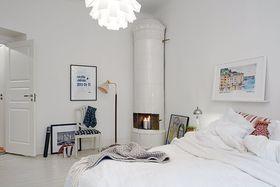 富裕型100平米三室一厅北欧风格卧室装修案例
