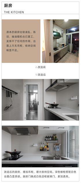 50平米公寓现代简约风格厨房效果图